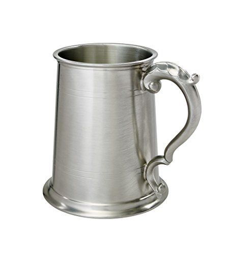 Wentworth Pewter 1 Pint Antique Fancy Handle Tankard
