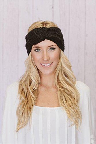 767be55c1ca610 Kfnire 4 Stück Stirnbänder Damen Winter Sport Damen Häkelarbeit Schleife  Design Stirnband Winter Kopfband Haarband (A): Amazon.de: Bekleidung