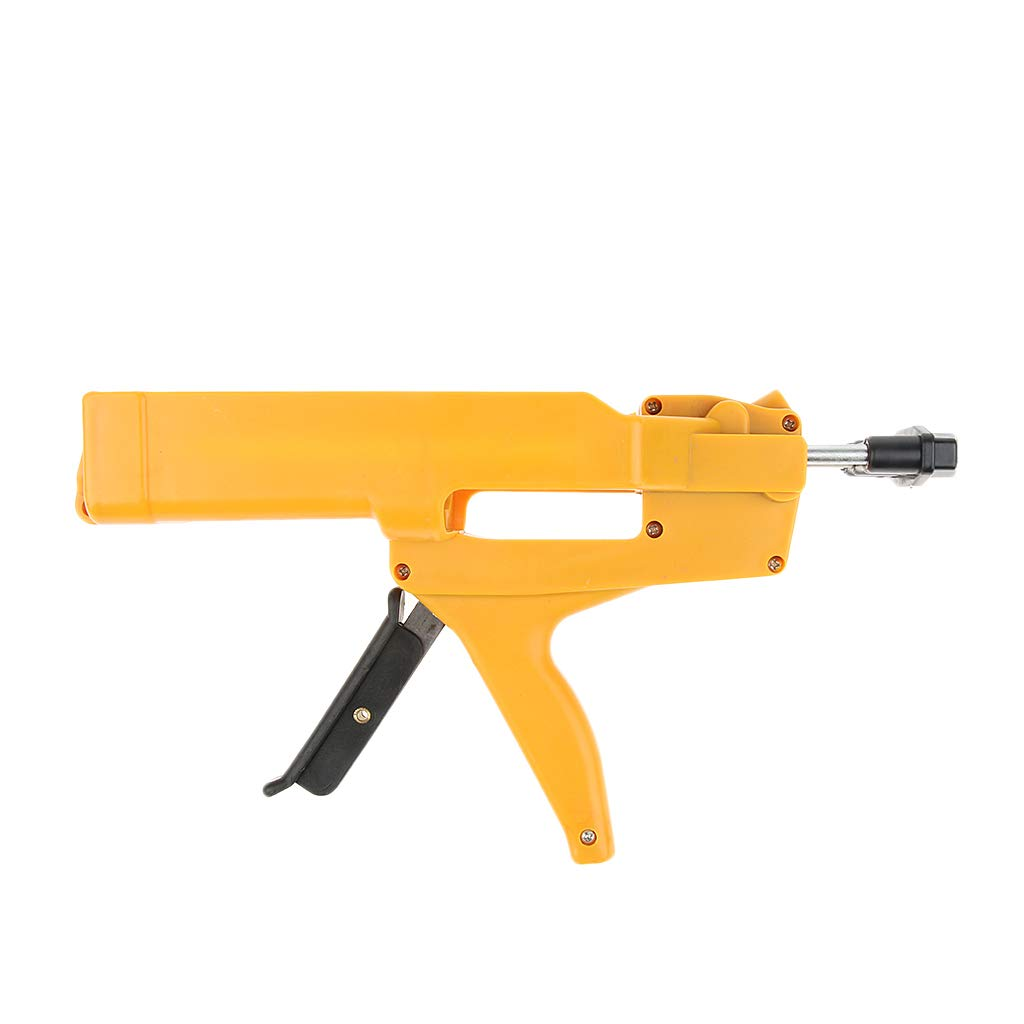Homyl Double-Barrel No-Drip Caulk Gun 400ml/13oz/0.1Gallon Dual Cartridges Plastic & Steel