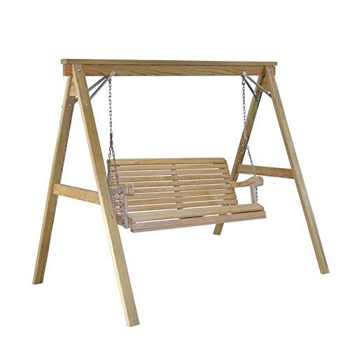 A-Frame Pine Wood Porch Swing Stand With Zinc Coated Fasteners (Pine Swing Sets)