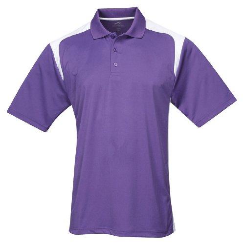 (Tri-mountain Mens 100% Polyester UC Knit Polo Shirt. 145TM - PURPLE / WHITE_4XLT )