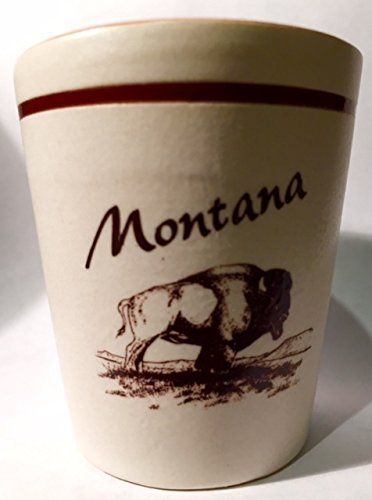 Shot Glass Montana (Montana Brown Buffalo Ceramic Shot Glass)