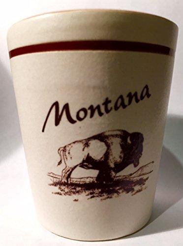 Glass Shot Montana (Montana Brown Buffalo Ceramic Shot Glass)