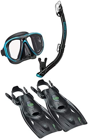 and Fins Travel Set TUSA Sport Adult Powerview Mask Dry Snorkel