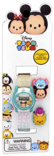 Disney TSTSKD16006 Kid's Tsum Tsum Baby Mickey and Minnie Mouse Digital LCD Watch with Sliders