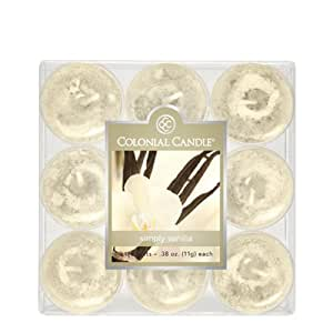 Colonial Candle Simply Vanilla Tealights, Set of 9