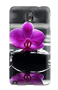 Cute High Quality Galaxy Note 3 Awesome Purple Orchids Flower Case