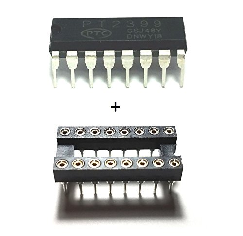 PTC PT2399 IC Echo Processor & 16-Pin Dip Sockets with Machined Contact Pins Breadboard-Friendly (Pack of - Pt2399 Pedal Effect