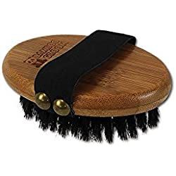 Bamboo Groom Palm Brush with Boar Bristles for Pets