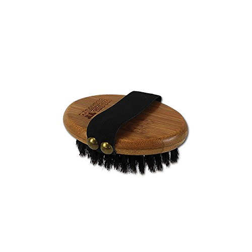 (Bamboo Groom Palm Brush with Boar Bristles for Pets)