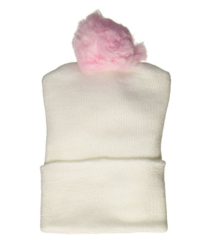 - Bird & Cronin 08142263 Comfor Knit Baby Hat with Pom Newborn Pink Pom and Booties Accessory Set