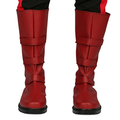 [Hot Movie Character Boots Red PU Leather Boots on Sale I] (Custom Cosplay Costumes Sale)