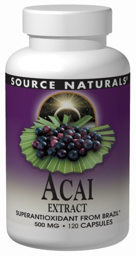 Source Naturals Acai Extract 500 mg, 120 Capsules
