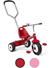Radio Flyer Deluxe Steer and Stroll Trike, Red