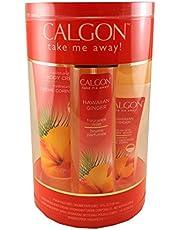 Calgon Hawaiian Ginger 4 Pc. Gift Set (Body Mist 8 Oz + Body Cream 8 Oz + Body Wash 7 Oz + Shower Pouf) for Women By 1 Pounds (HAW20)