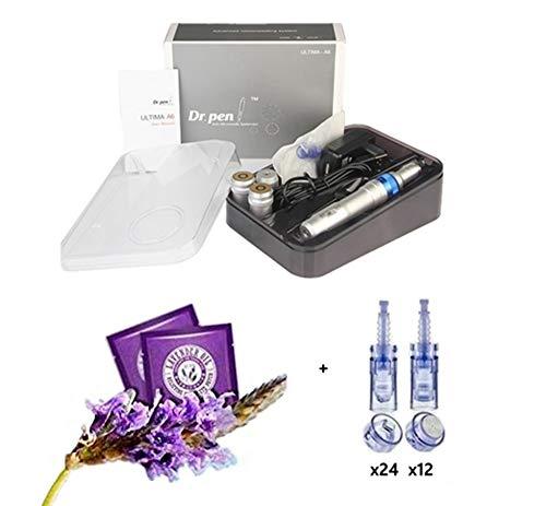(Dr pen A6 Multifunctional SPA Professional Care Equipment/Dr.pen Permanent Makeup Pen ✏ w/Dr. pen Ultima A6 Replacement Parts + bonus 2 Lavender Steam Eye Masks (with 36 x Nano Chips))