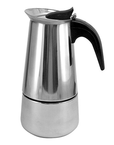 Expresso Coffee Pot - 9 Cup Brew-fresh Stainless Steel Italian Style Expresso Coffee Maker for Use on Gas Electric and Ceramic Cooktops