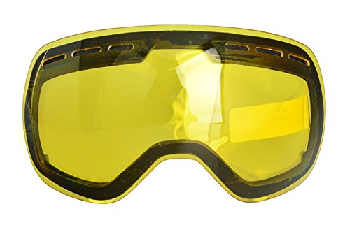 Ski goggles,Snowledge Detachable Snowboarding Goggles for Men Women with Anti Fog, Anti Scratch, 100% UV Protection Cool REVO Mirror Snow - Sunglasses Faces That Asian Fit