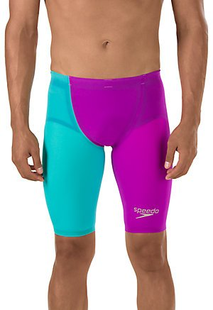 Speedo 7050711 Men's LZR Elite 2 High Waist Jammer, Purple/Teal - 27