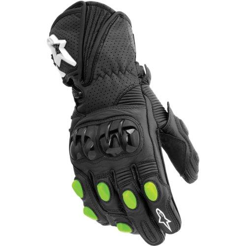 Alpinestars GP-M Monster Energy Leather Gloves Black Green L/Large