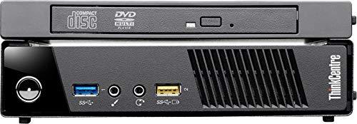 Lenovo ThinkCentre M73 Tiny Desktop (Intel Core i3-4130T 2.9GHz Processor, 4 GB DDR3 SDRAM Memory, 500GB 7200RPM Hard Drive, DVD Recordable, Windows 8 Pro 64-bit) - Black