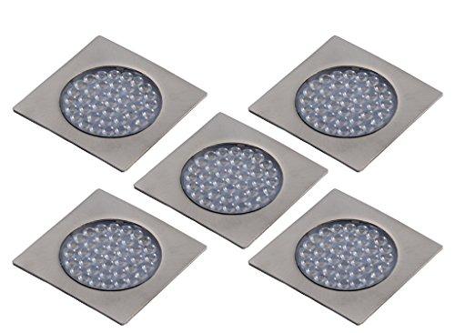 LED Unterbauleuchte Quatro 3er/5er Set Küchen- und Vitrinenleuchte Vitrinenlampe neutralweiß Anbauleuchte Anbaulampe Beleuchtung Küchenleuchte Küchenlampe Unterbaulampe Unterbau (5er Set)