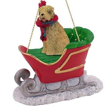 Conversation Concepts Soft Coated Wheaten Terrier Trineo Perro Adorno de Navidad: Amazon.es: Hogar