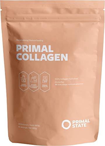 Collagen Pulver - Kollagen Hydrolysat Peptide Typ 1, 2 und 3 - Aus Weidehaltung - 460g Primal Kollagen Pulver