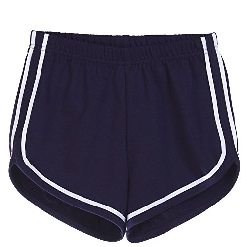 Corti Yoga Hot Pantaloncini Elastica Marina Pants Spiaggia Militare Pantaloni Estivi Blu Sport Donna Fitness Vita Casuale 5f0HvxnwqP