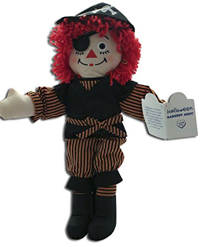 Halloween Raggedy Andy Pirate Rag Doll