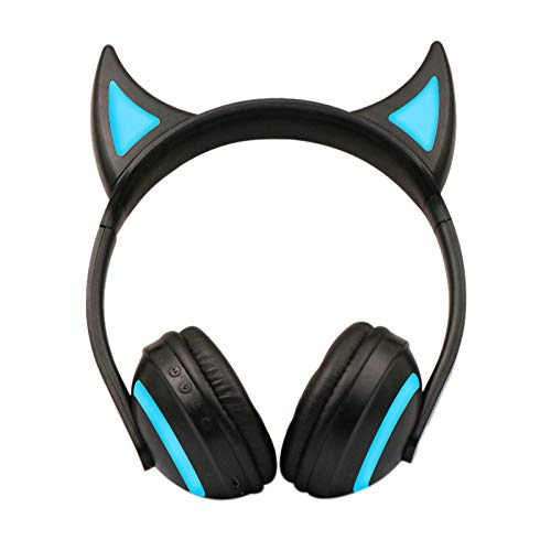 TOOGOO New Gaming Headphones Headset Wired/Wireless Gamer Earphone Microphone for PS4 Phone PC Laptop Kids Headphones(Devil)