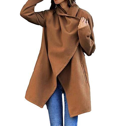 Sweaters For Women Liraly Fashion Autumn Woolen Pocket Winter Woolen Coat(Brown,US-4 /CN-S) by Liraly