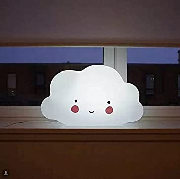 Amazon.com : Cloud Face Night Light Childrens Bedroom Nursery Lamp ...