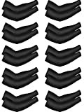 ROOCHL 10 Pairs Cooling Sun Sleeves UV Protection