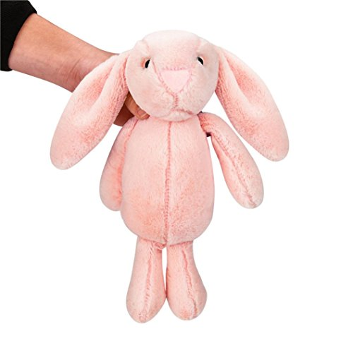 Pink Bunnies Fluffy (Gbell Child Kids Stuffed Plush Cute Big Ear Bunny Fluffy Animal Doll,9.8 inches/13.8 inches tall (Pink 35CM))