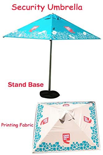 Patio Umbrella (Garden Umbrella - Blue & White)
