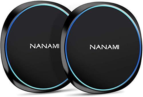 NANAMI Cargador Inalámbrico Rápido,[2-Pack] 7.5W Qi Wireless Charger para iPhone 12/11/XS Max/XR/X/8/8 Plus,10W…