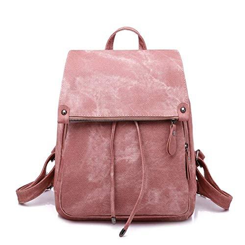 ETH Pink Bag Women's Pleated Imitation Denim PU Backpack Women's Backpack Durable (Mk Bags Imitation)