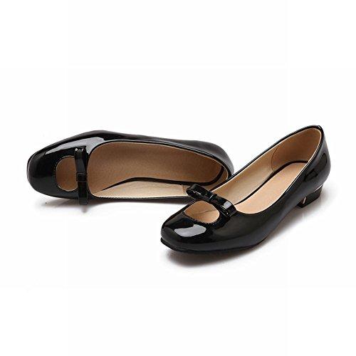 Show Shine Damesmode Bow Loafer Flats Schoenen Zwart