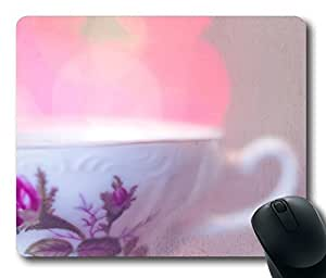 Mouse Pad Cup Of Tea Bokeh Desktop Laptop Mousepads Comfortable Office Mouse Pad Mat Cute Gaming Mouse Pad