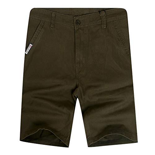Men's Rugged Simple Outdoor Elastic Cargo Shorts, Mmnote Workout Lightweight Comfort Tactical Shorts(Waist:28.15''-36.02'')