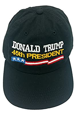Donald Trump 45th President Make America Great Again-Black Hat/Cap-Low Profile