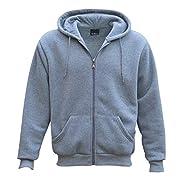 Adult Unisex Zip Plain Fleece Hoodie Hooded Jacket Mens Sweatshirt Jumper XS-6XL