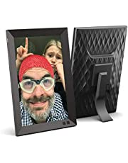 NIX 10.1 Inch USB Digital Picture Frame (Non-WiFi) with Portrait or Landscape Stand, HD Resolution, Auto-Rotate, Remote Control - Mix Photos and Videos