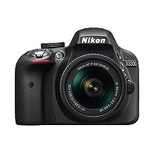 Nikon D3300 Digital SLR Camera - Black (24.2 MP, AF-P 18-55mm VR Lens Kit) 3-Inch LCD Screen - International Version (No Warranty)