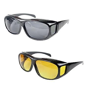 d07a7b8a38e2 Anvey New Day   Night HD Vision Goggles Anti-Glare Polarized Sunglasses Men Women  Driving Glasses Sun Glasses UV Protection car Drivers  Amazon.in  Car   ...