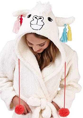 VESTAGLIA loungeable donna da Llama elegante Super morbido Robe pile Hooded nYwPfZqY
