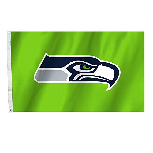 NFL Seattle Seahawks Seattle Seahawks 3 Ft. X 5 Ft. Flag with Grommets, Navy,