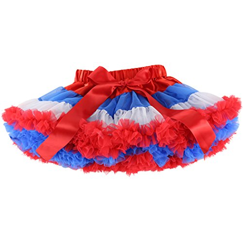 Wennikids Little Girl's Dance Chiffon Pettiskirts Tutu Assorted Size and Color XX-Large Blue Red White