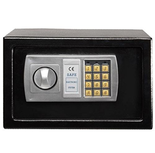 New 12 5  Electronic Digital Lock Keypad Safe Box High Security And Quality Black 4 X Aa Size 1 5V  Not Included